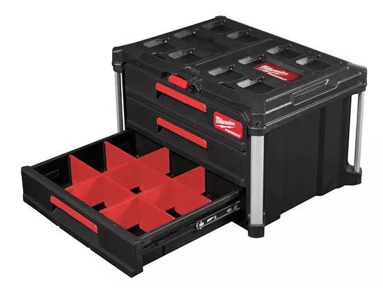 Milwaukee  PACKOUT Koffer mit 3 Schubladen