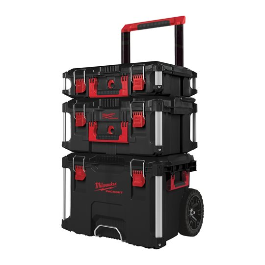 Milwaukee PACKOUT Trolley-Koffer Promo-Set, 3-teilig